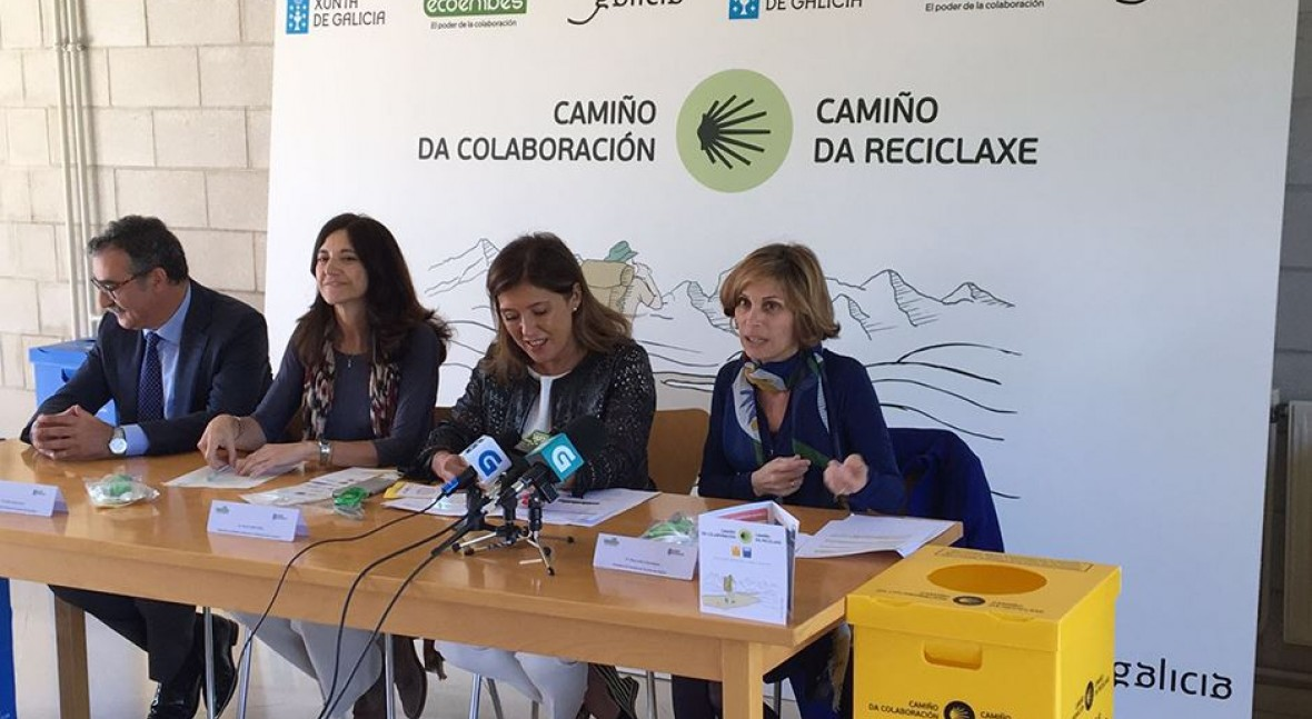 Xunta Galicia y Ecoembes promueven juntos reciclaje envases Camino Santiago