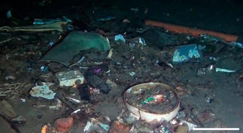 mar basura: fondos oceánicos, grandes vertederos desechos