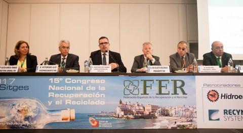líderes industria reciclaje llaman unidad sector 15º Congreso FER