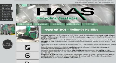 HAAS ARTHOS, molino martillos móvil 770 CV