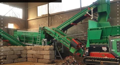 Planta reciclaje residuos madera HAAS