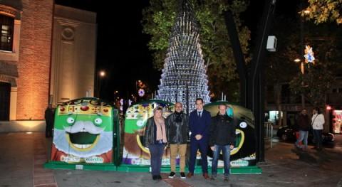 marcha campaña solidaria recogida vidrio Navidad Getafe