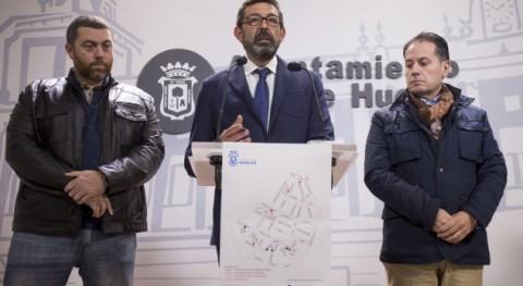Huelva mejora imagen Casco Histórico retirada contenedores durante día