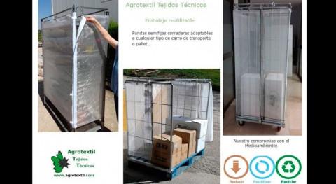 Nuevo método embalaje reutilizable carros transporte mercancías