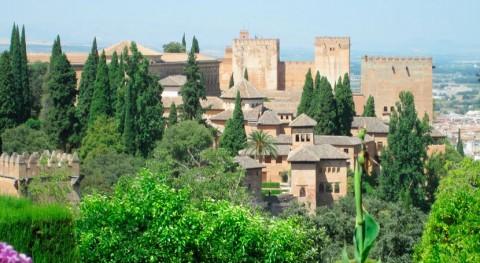 humo coches y quema rastrojos 'pintan' hollín Alhambra Granada