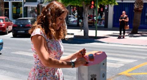 Alhaurín Torre estrena siete nuevos contenedores reciclaje pilas