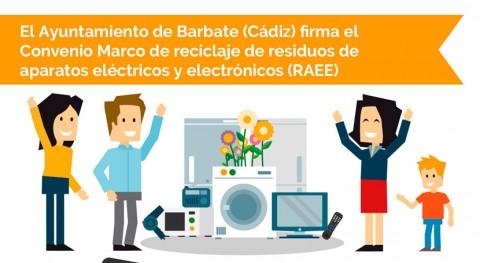 Ayuntamiento Barbate firma convenio marco reciclaje RAEE