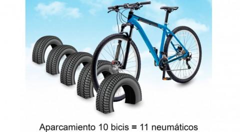 ¿Sabías que... se pueden hacer aparcamientos bicis neumáticos usados?