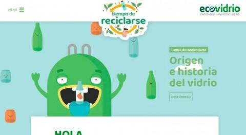 """""""Es tiempo reciclarse"""", nueva web Ecovidrio entretener pequeños y mayores"""