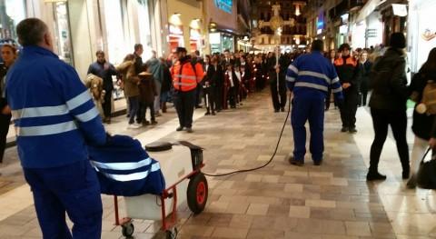 Málaga pone punto procedimiento limpiar cera que se empleará Semana Santa