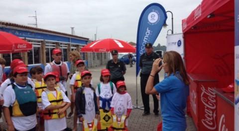 30 niños recogen 206 kilos residuos isla Cortegada ECOMAR y Coca-Cola