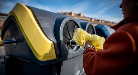 uso contenedor amarillo creció España 8,5% y azul bajó 0,3% 2020