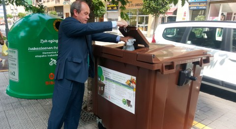 marcha implantación contenedor marrón recogida materia orgánica Bilbao
