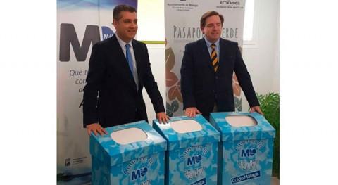 cartón recogido Málaga forma selectiva se reutilizará fabricación cartonaje