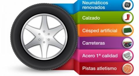 neumático reciclado, presente día día