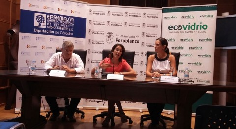 Diputación, Ayuntamiento y Ecovidrio ponen marcha campaña reciclaje Pozoblanco