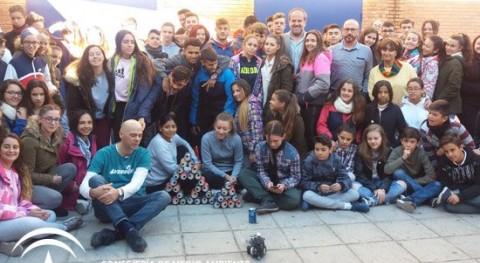 proyecto residuos y reciclaje IES Averroes, elegido mejor Andalucía Occidental