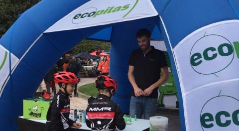 seguidores Vuelta Asturias reciclan 100 kilos pilas