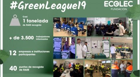 segunda #GreenLeague Fundación Ecolec logra recoger casi tonelada residuos