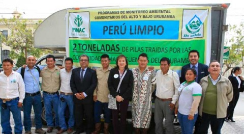 comunidades peruanas Alto y Urubamba recogen 2 toneladas pilas año