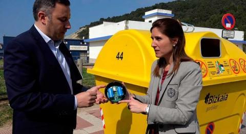 marcha prueba piloto colocación sensores contenedores Bizkaia