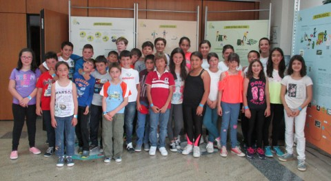 Escolares O Corgo viajan Sogama perfeccionar conocimientos reciclaje