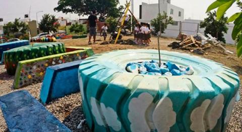 Materiales reciclados, al rescate espacios públicos