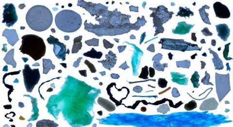 Esta es imagen completa origen y composición basura océanos