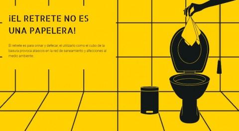 """""""Expo-retrete"""" recorre Euskadi enseñando usar WC forma responsable"""