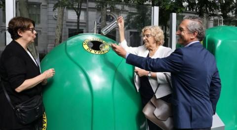 reciclaje vidrio Madrid evita CO2 equivalente al que emiten 112.000 coches año