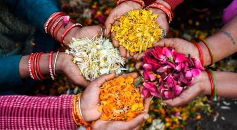 Flores convertidas incienso, economía circular máximo florecer