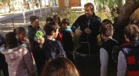 reciclaje y compostaje se aprende escuelas Formentera