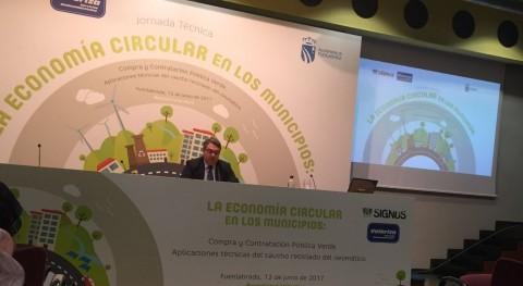 Fuenlabrada ha reutilizado más 200.000 neumáticos fuera uso obras municipales