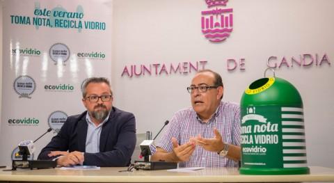 Gandía presenta plan integral incrementar reciclaje vidrio verano