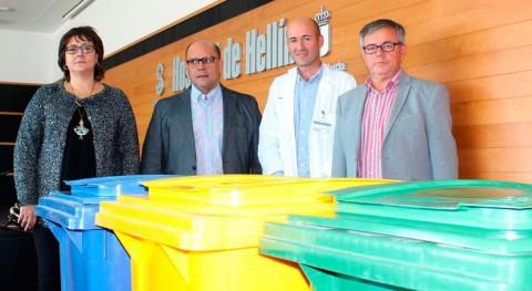 Hospital Hellín apuesta sostenibilidad 18 nuevas triadas reciclaje