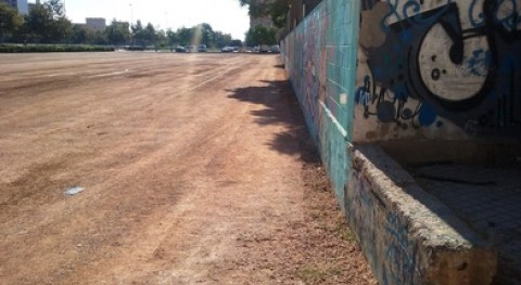 Valencia restaura 7 solares municipales sorra reciclada material derribos