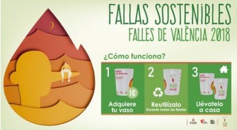 Valencia apuesta unas Fallas sostenibles 35.000 vasos reutilizables