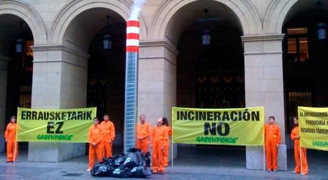 Greenpeace rechaza frontalmente incineradora residuos Gipuzkoa