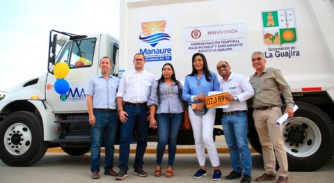 Manaure, Guajira, recibe nuevo carro compactador residuos sólidos