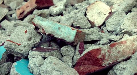 Ladrillos más económicos partir material plantas gestión residuos construcción