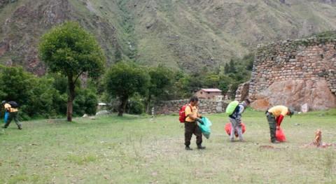 Gran jornada limpieza red Caminos Inka Santuario Histórico Machupicchu