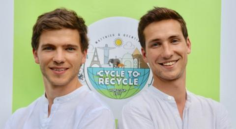 Cycle to Recycle: vuelta al mundo bici reducir impacto residuos plásticos