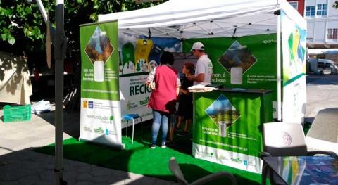 Merca, Castro Caldelas y Baltar se vuelcan reciclaje