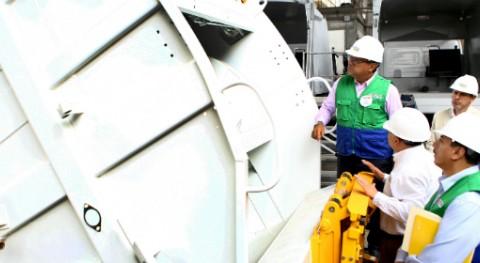 MINAM inspecciona maquinarias limpieza y recogida residuos varios municipios