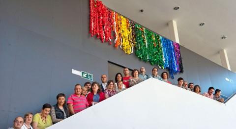 mural hecho 31.800 tapones plástico sensibilizará Plan Residuos Navarra