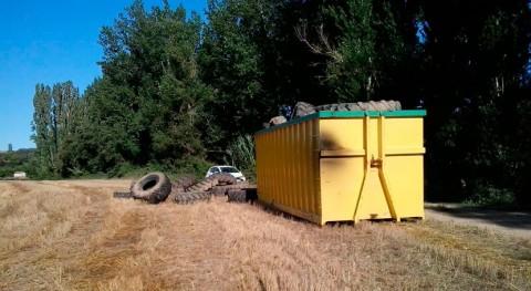 CHE retira 8 toneladas neumáticos entorno embalse Barasona, Huesca