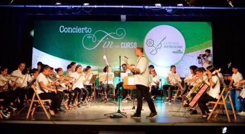 niños ' Música Reciclaje' sorprenden concierto final curso