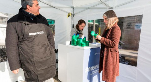 marcha campaña #noseusitio sensibilizar reciclaje Coruña