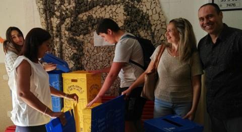 Arucas distribuye 450 papeleras reciclaje centros educativos municipio