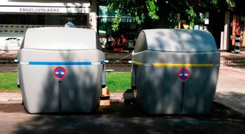 Pozuelo estrena 30 contenedores basura menos ruidosos y más resistentes